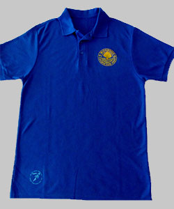 blue club t shirt front